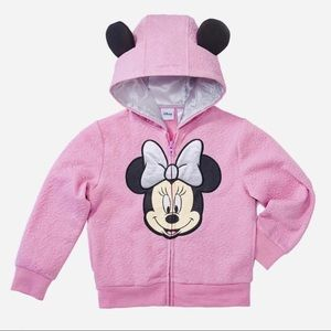 Disney Pink Minnie Mouse Hoodie With Ears NWT